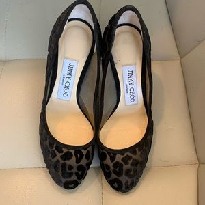 Jimmy Choo Bridget Leopard Devore Pump
